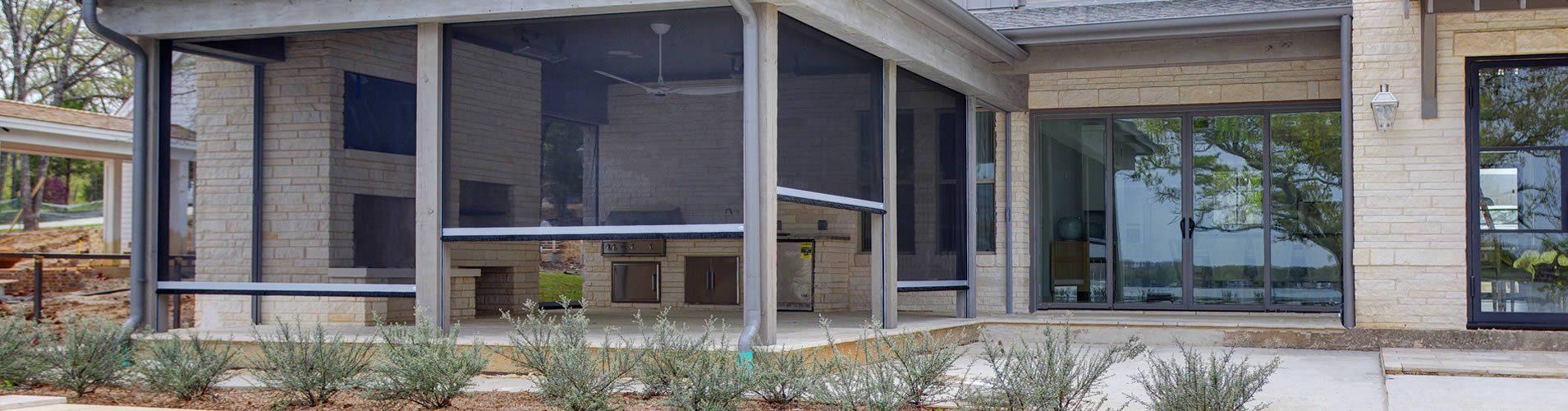 Dallas motorized patio shades