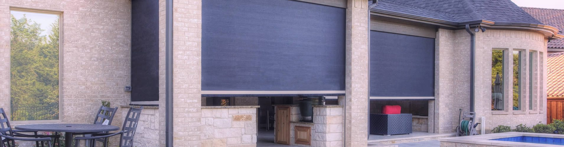 Texas Shade Inc. Outdoor Roller Shades