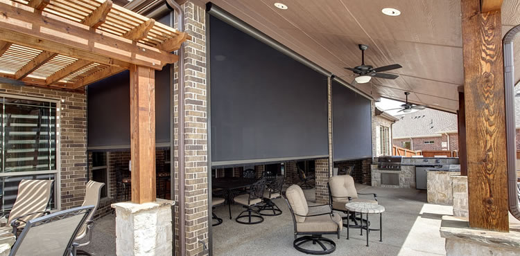 Dallas Texas motorized screens